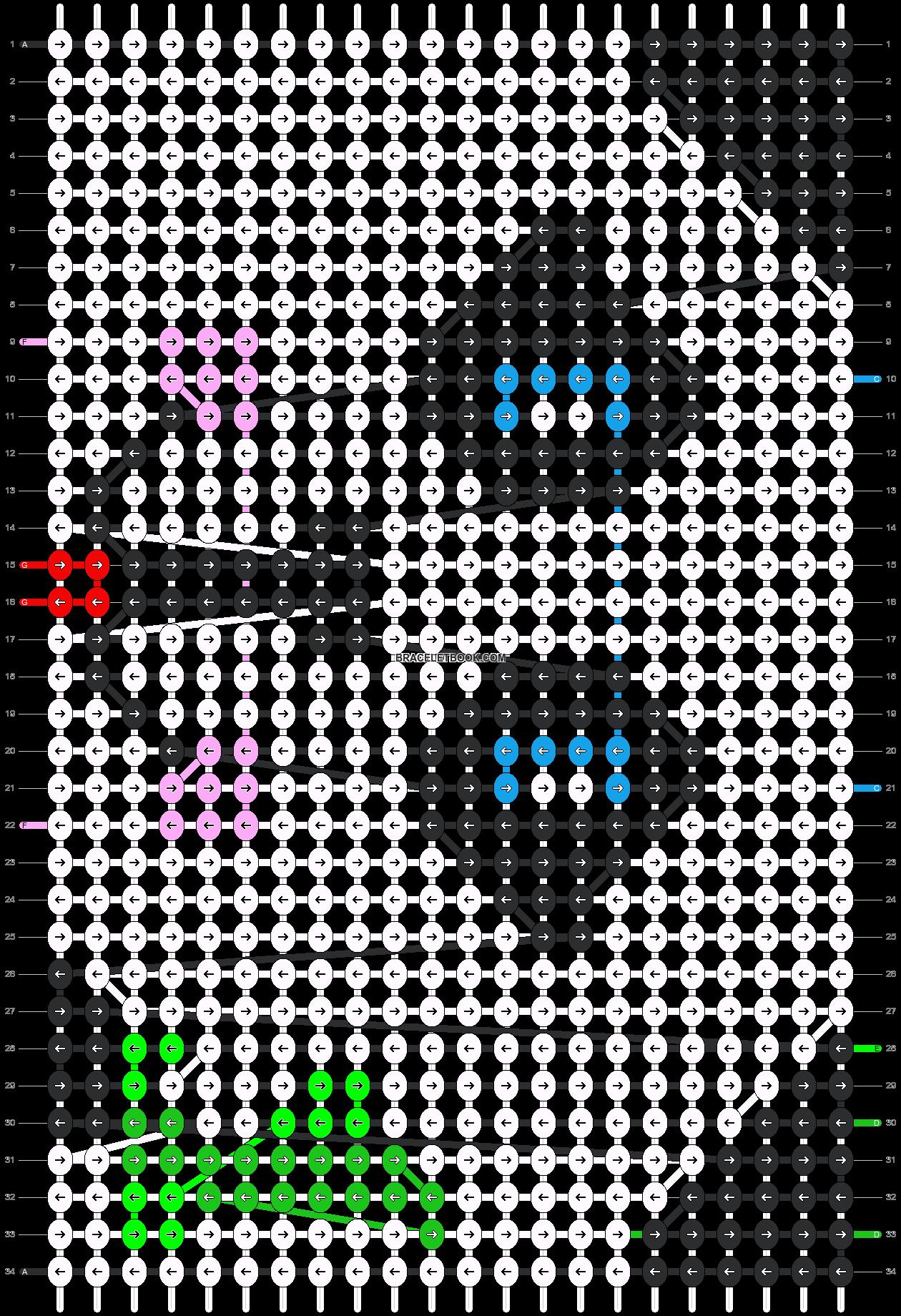 Alpha pattern #5560 pattern