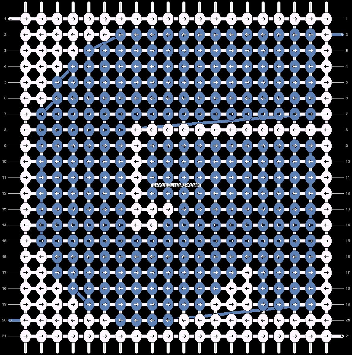 Alpha pattern #5644 pattern