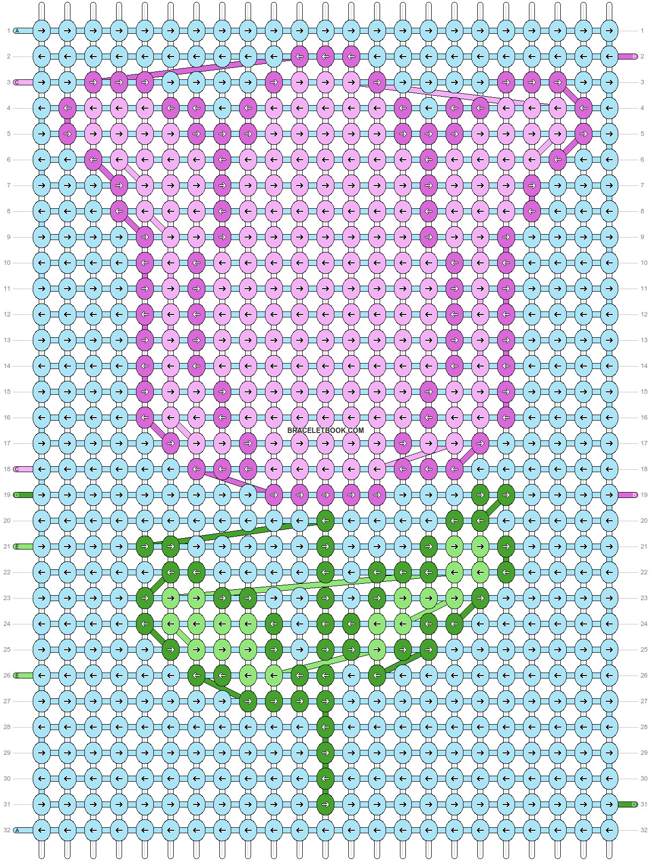 Alpha pattern #5657 pattern