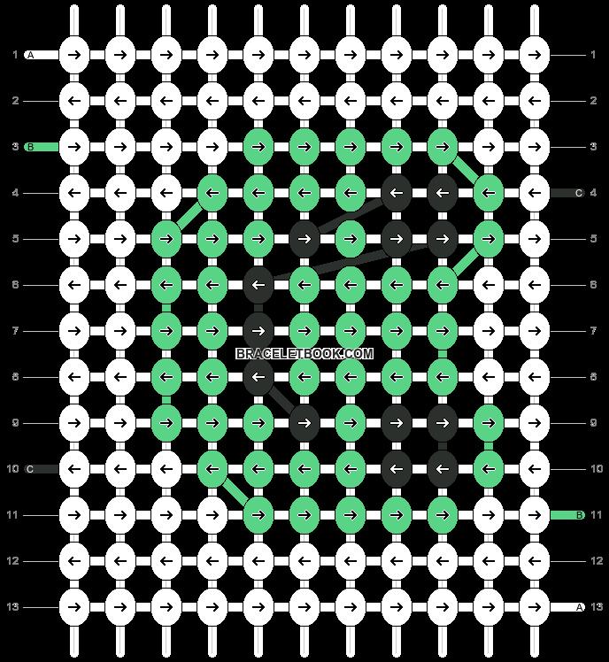 Alpha pattern #5664 pattern