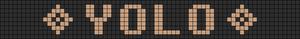 Alpha Friendship Bracelet Pattern #5673