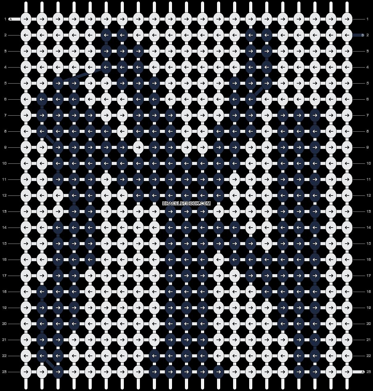 Alpha pattern #5674 pattern