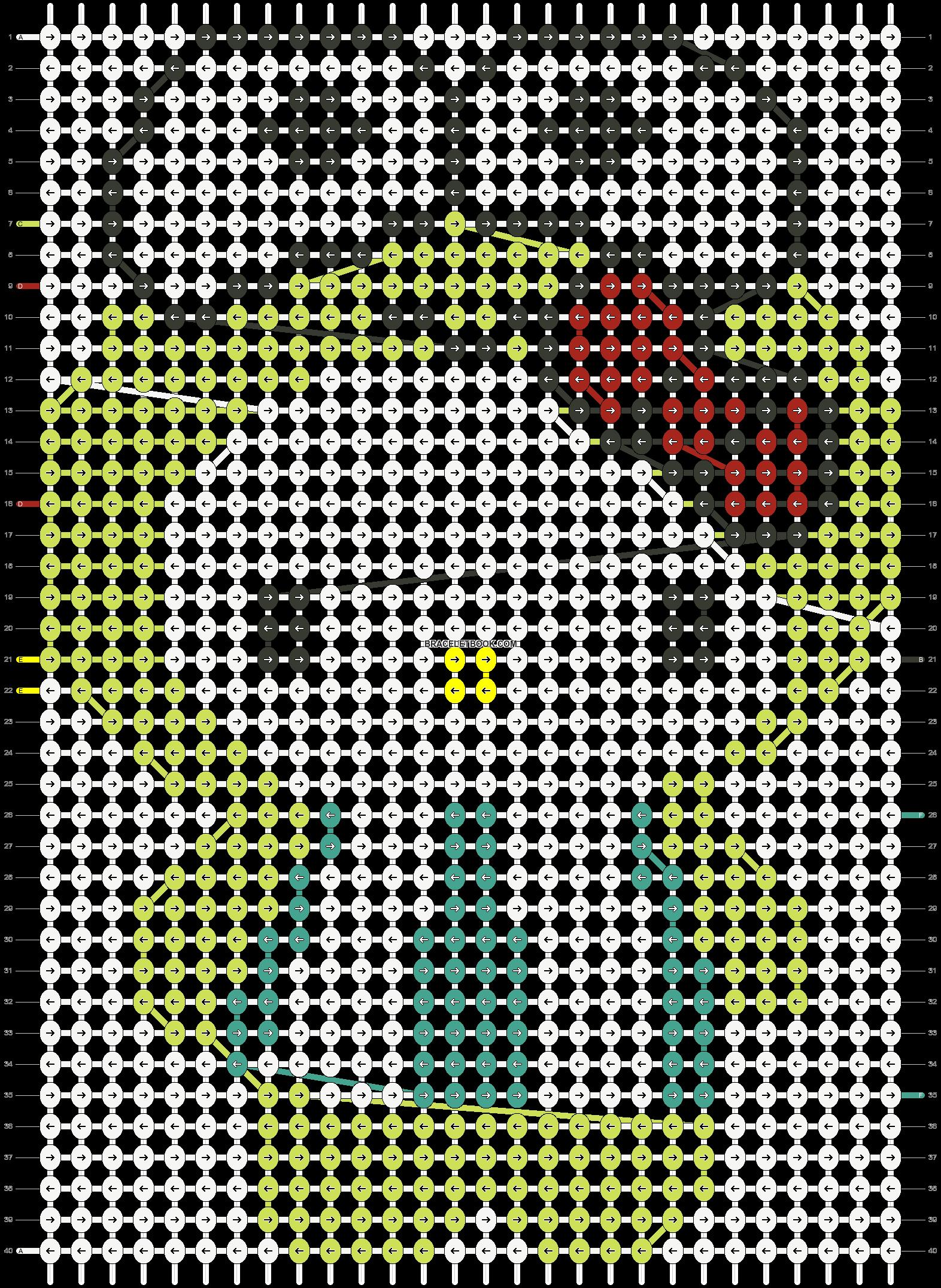 Alpha pattern #5675 pattern