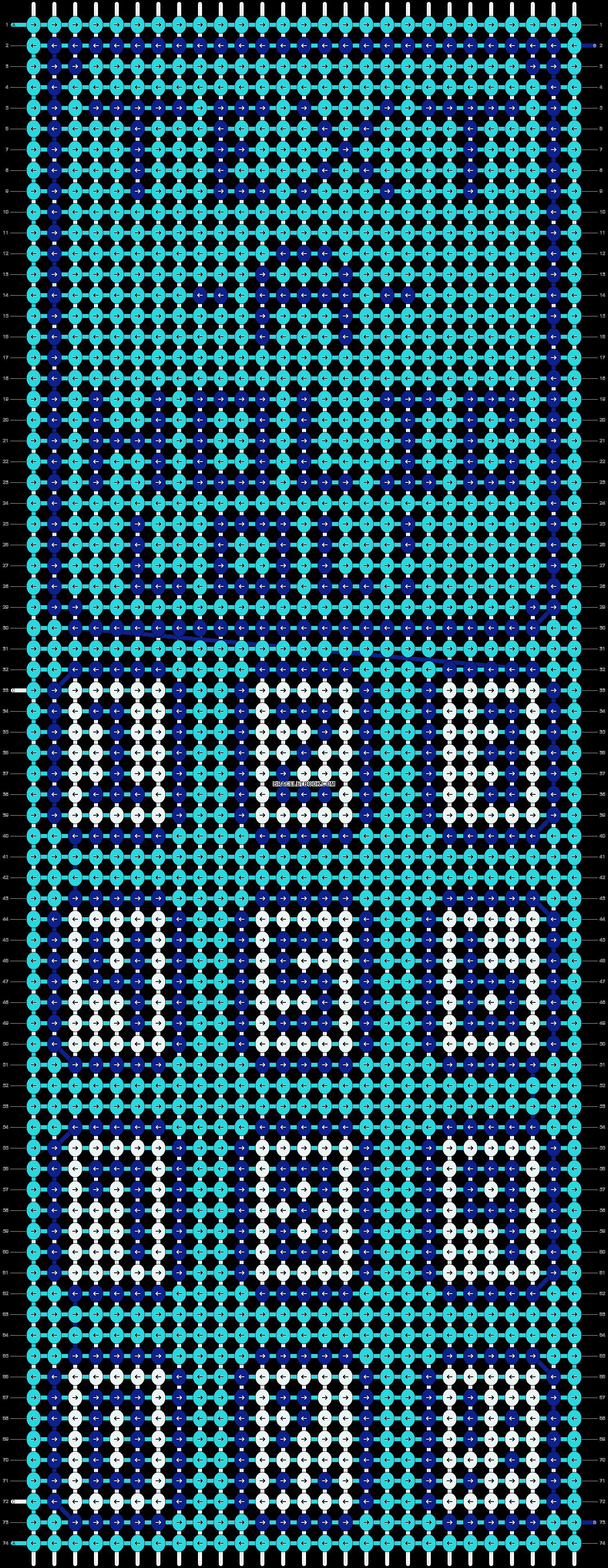 Alpha pattern #5709 pattern