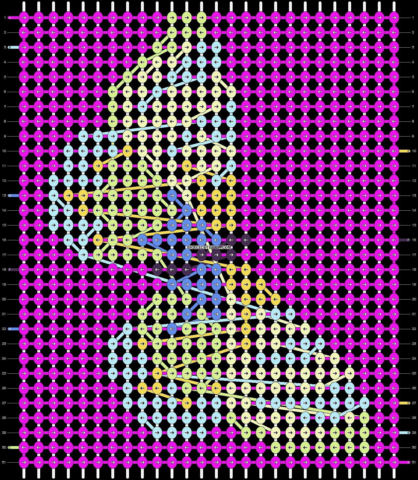 Alpha pattern #5734 pattern