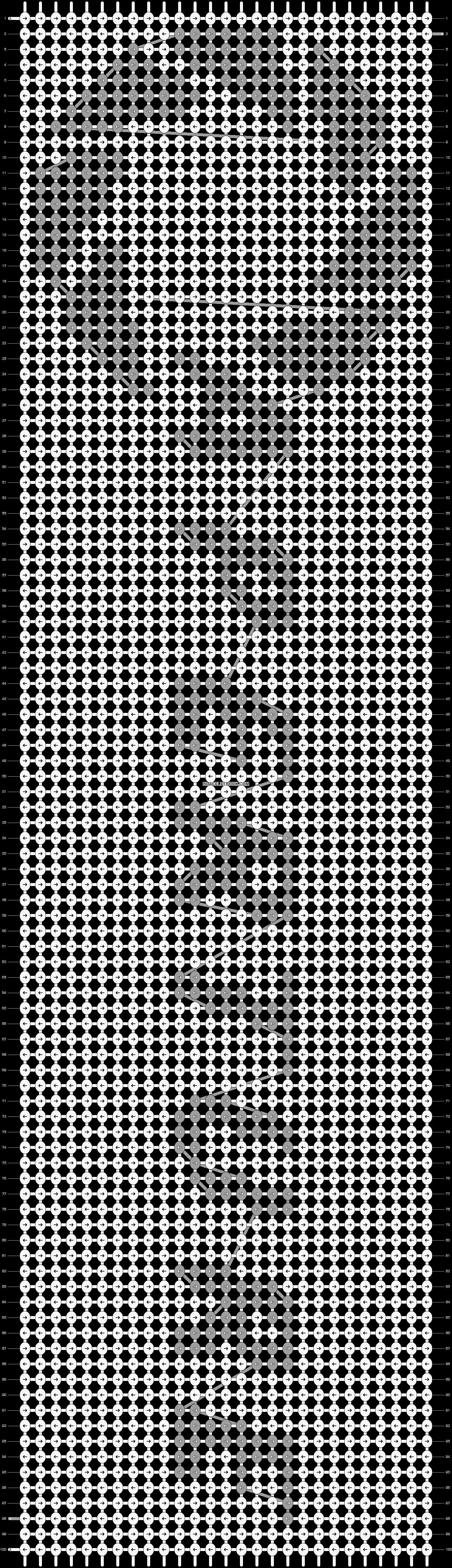 Alpha pattern #5868 pattern