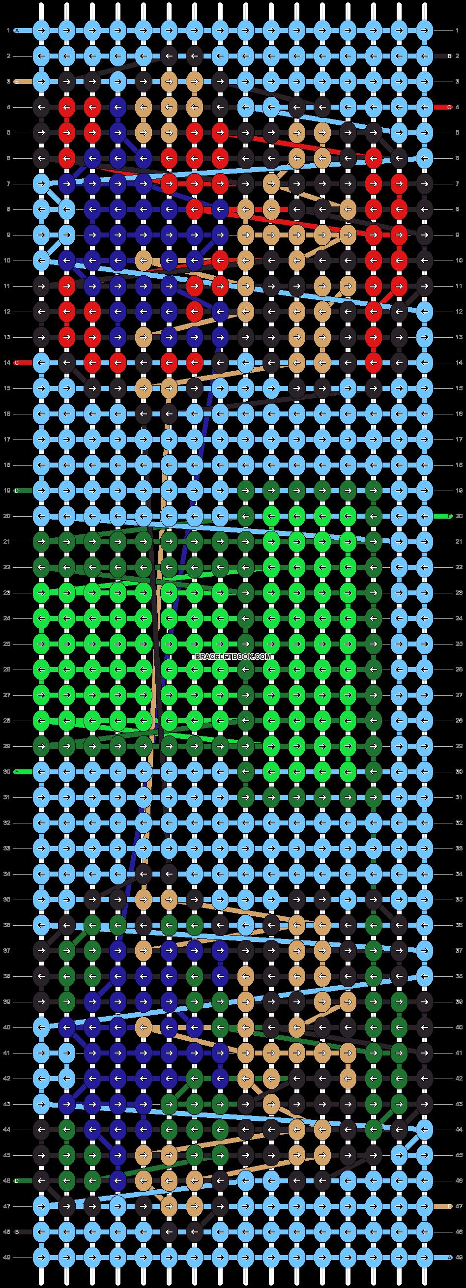 Alpha pattern #5871 pattern