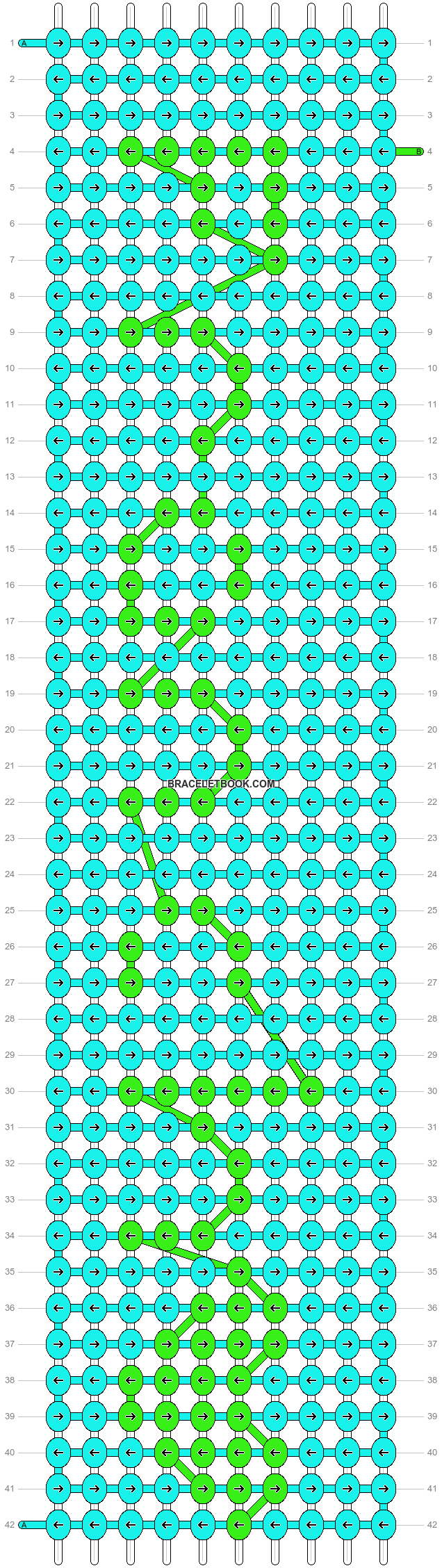 Alpha pattern #6017 pattern