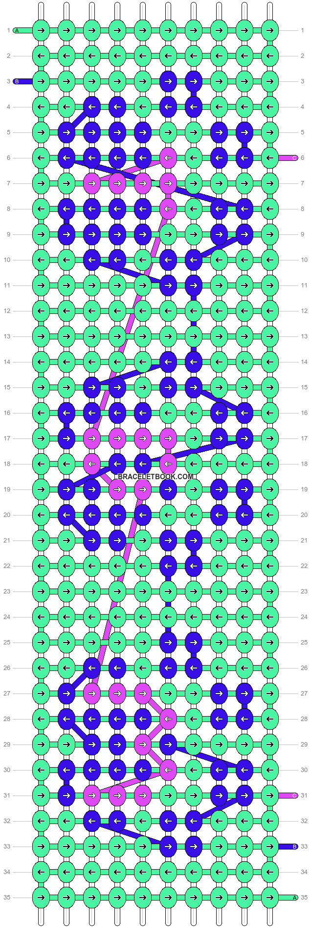 Alpha pattern #6124 pattern