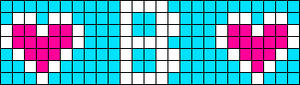 Alpha Friendship Bracelet Pattern #6145