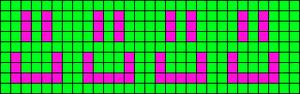Alpha Friendship Bracelet Pattern #6226