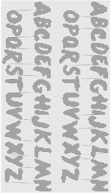 Alpha pattern #6310 pattern