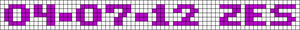 Alpha pattern #6398