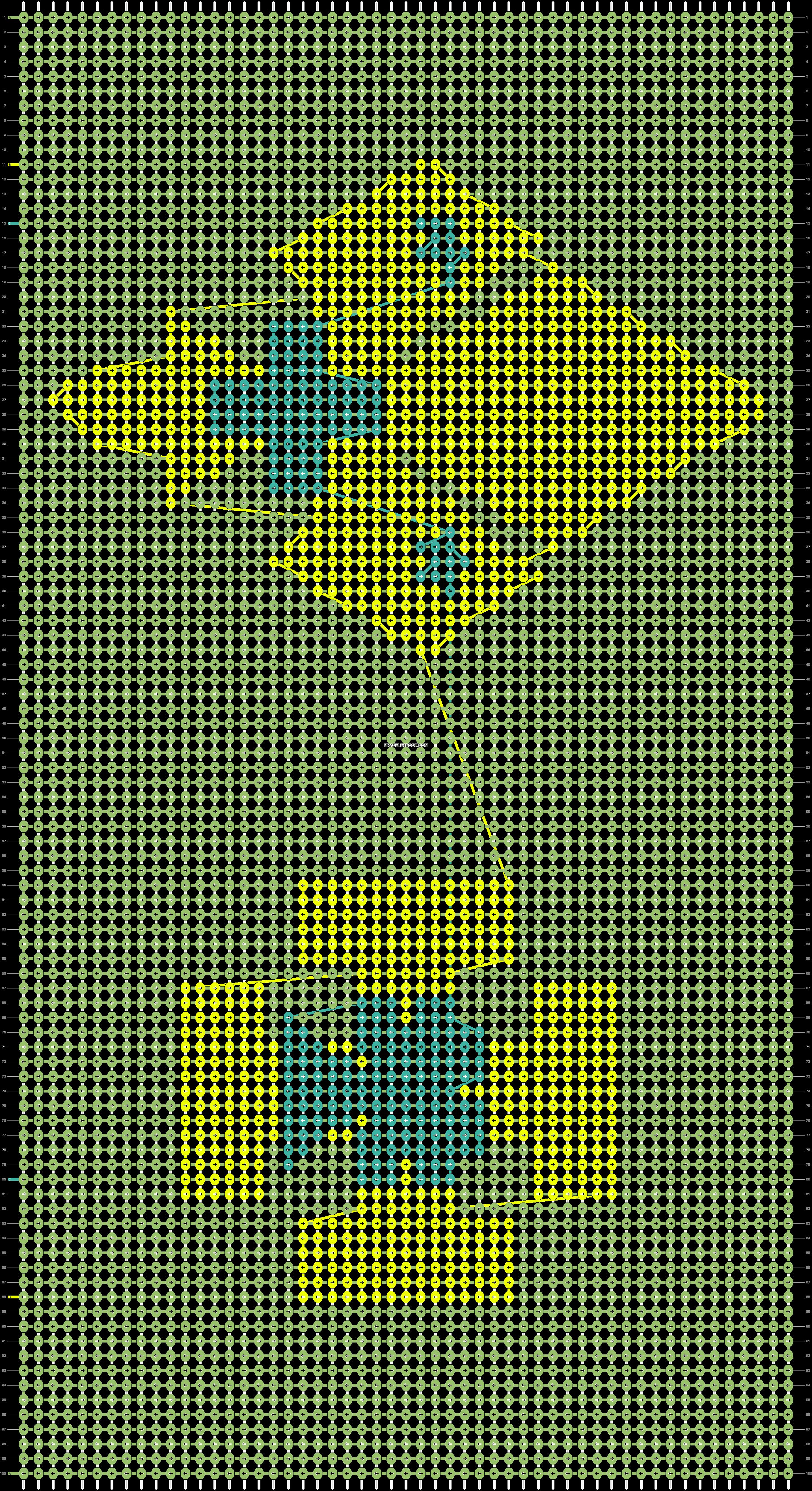 Alpha pattern #6406 pattern