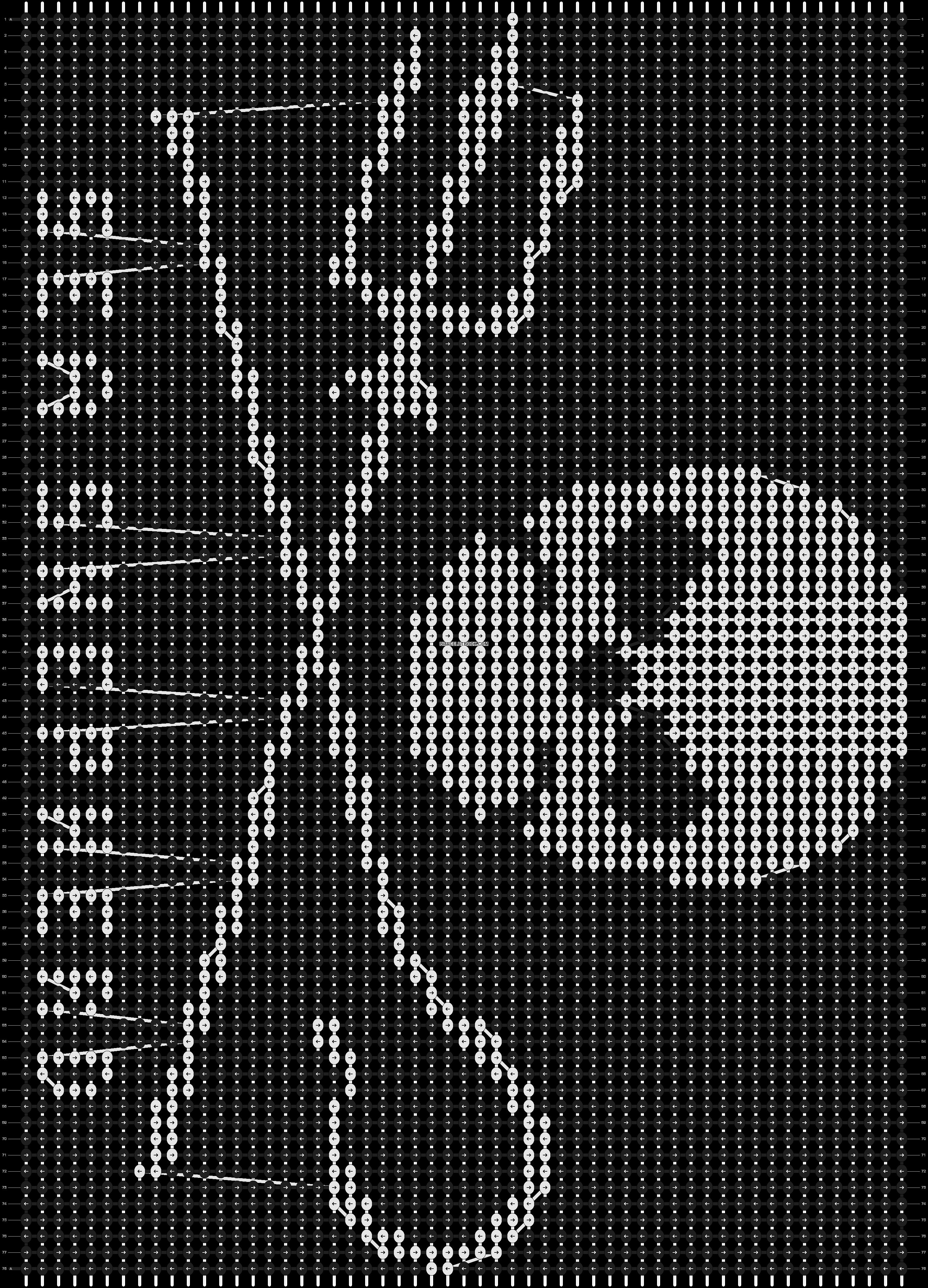 Alpha pattern #6407 pattern