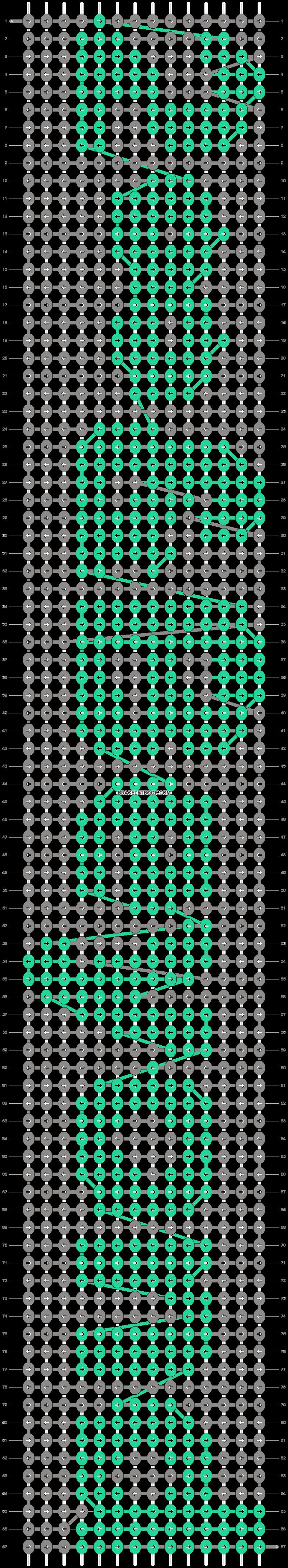 Alpha pattern #6445 pattern