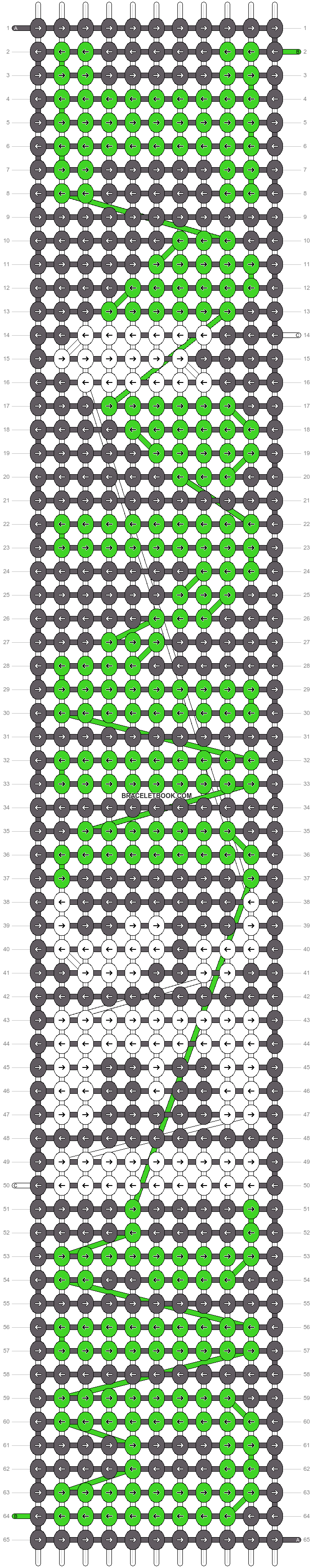 Alpha pattern #6460 pattern