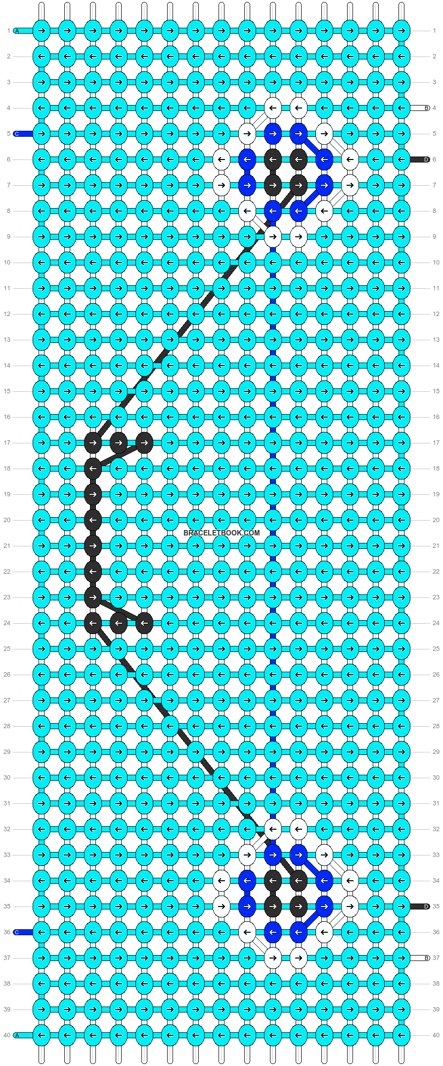 Alpha pattern #6474 pattern