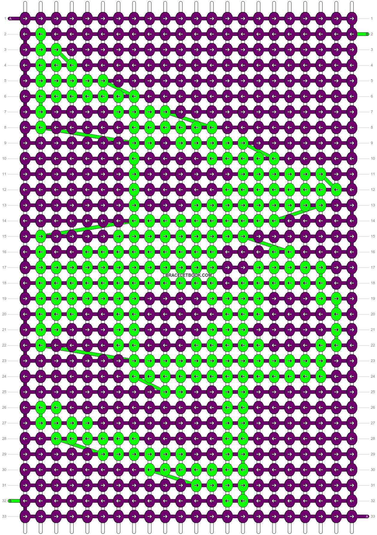 Alpha pattern #6475 pattern