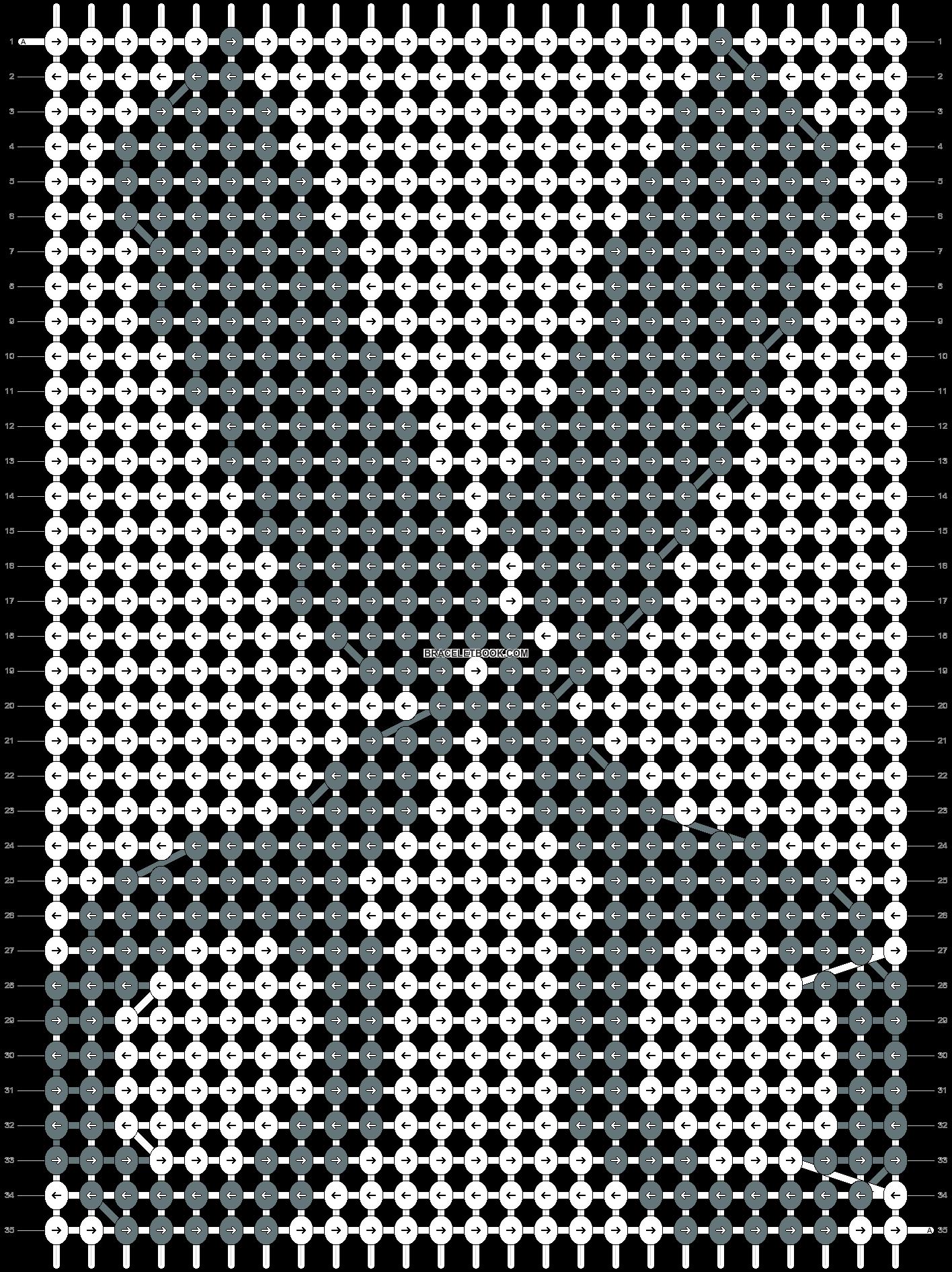 Alpha pattern #6487 pattern