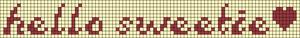 Alpha Friendship Bracelet Pattern #6522