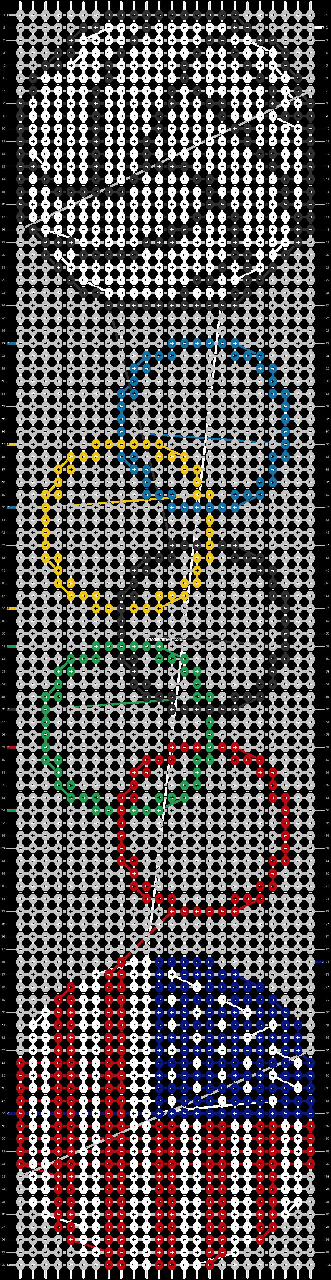 Alpha pattern #6546 pattern