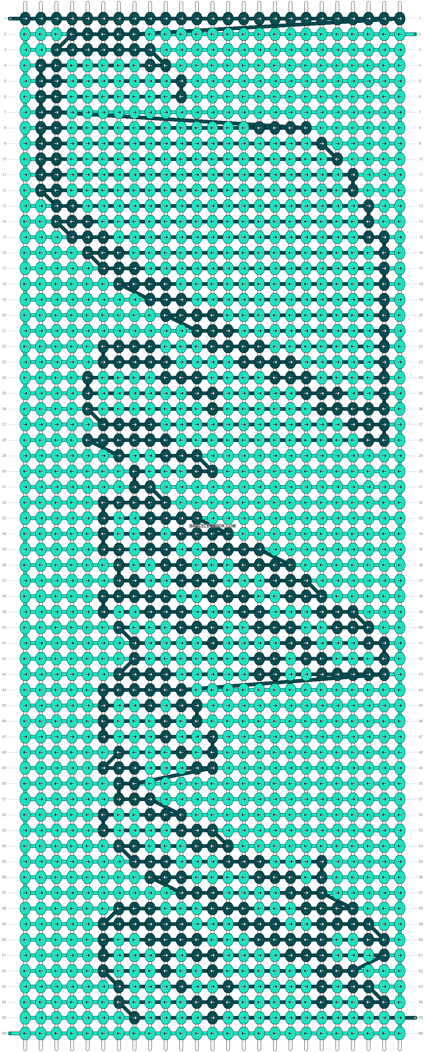 Alpha pattern #6550 pattern