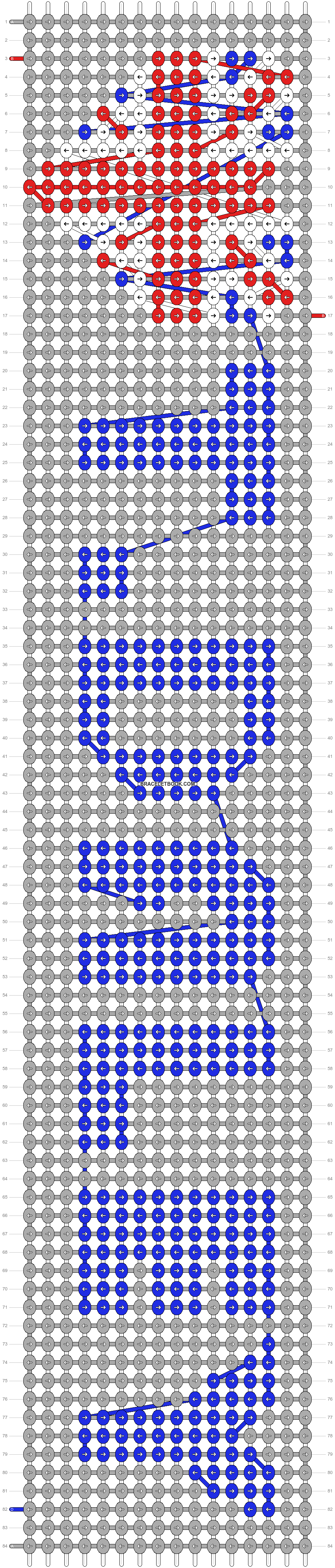 Alpha pattern #6558 pattern