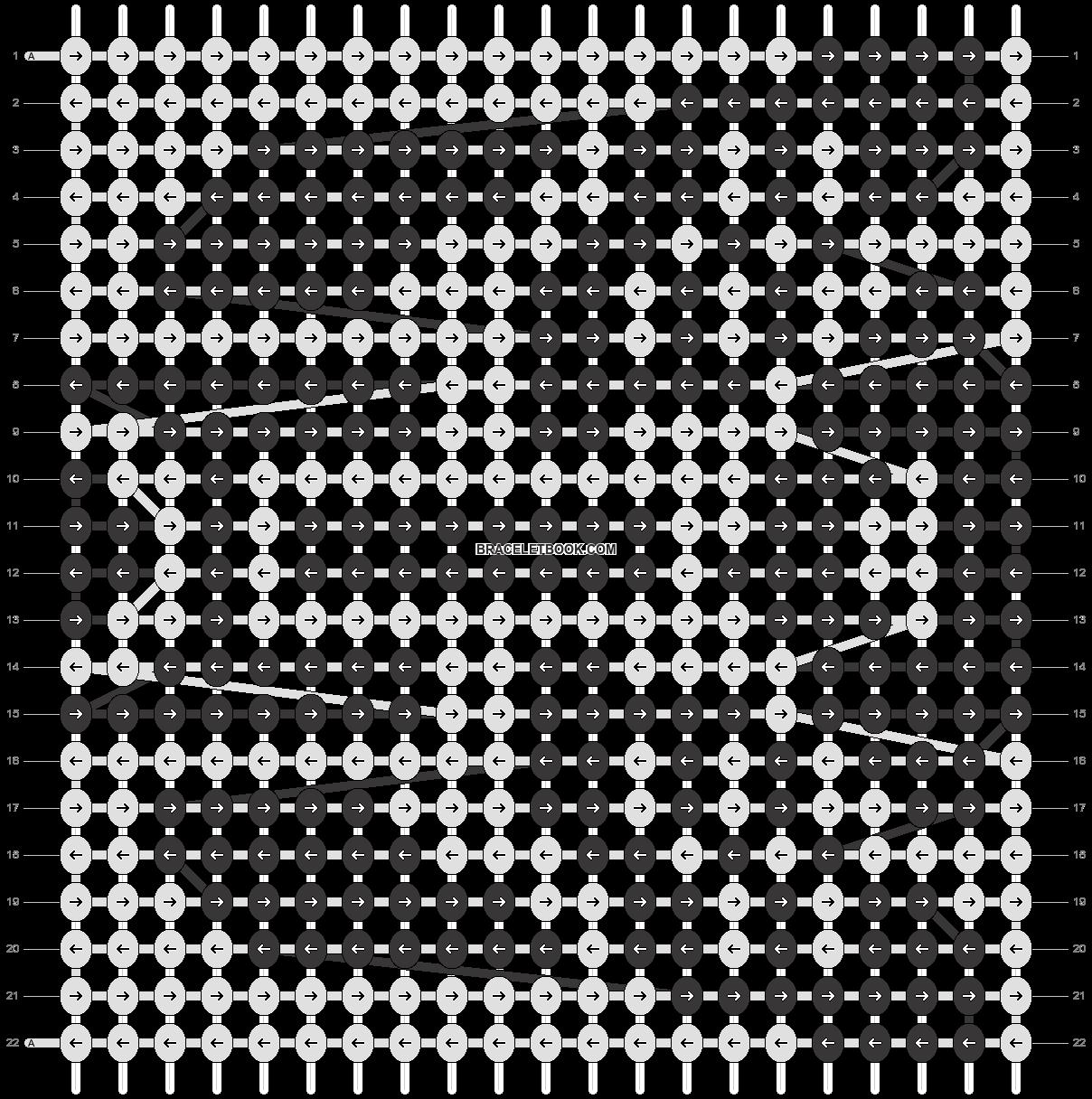Alpha pattern #6605 pattern