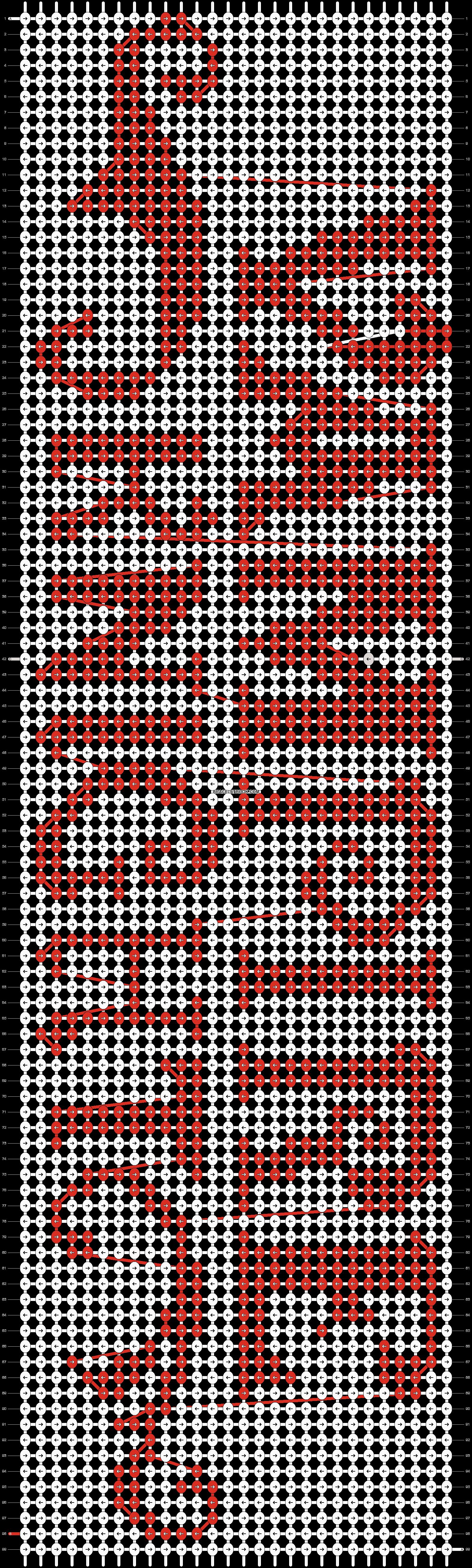 Alpha pattern #6674 pattern