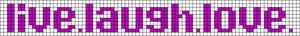 Alpha Friendship Bracelet Pattern #6675