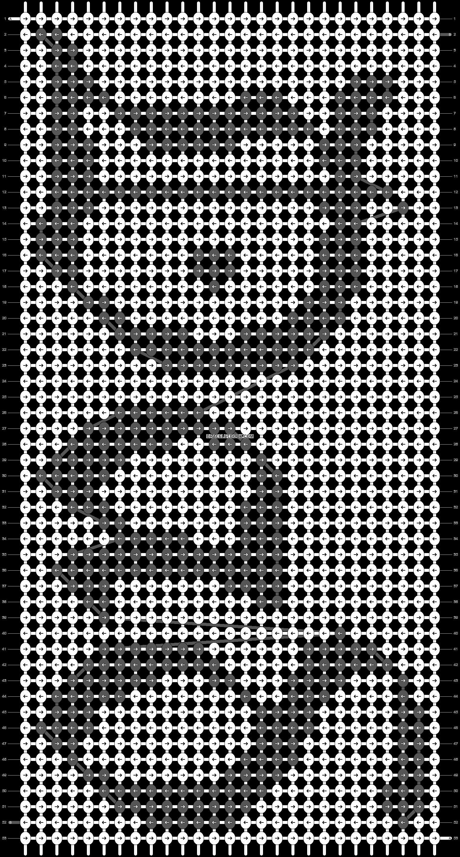 Alpha pattern #6692 pattern
