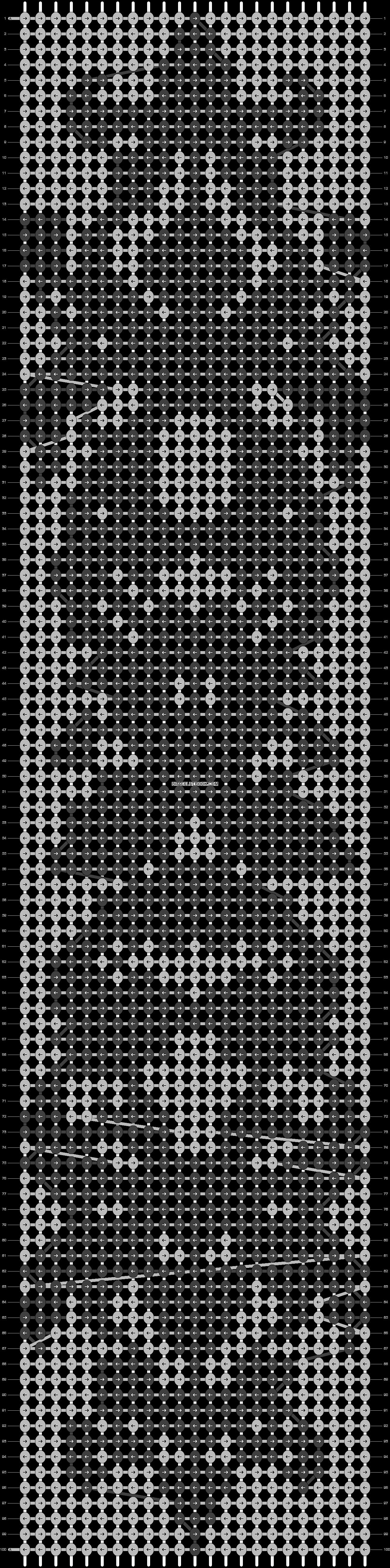 Alpha pattern #6705 pattern