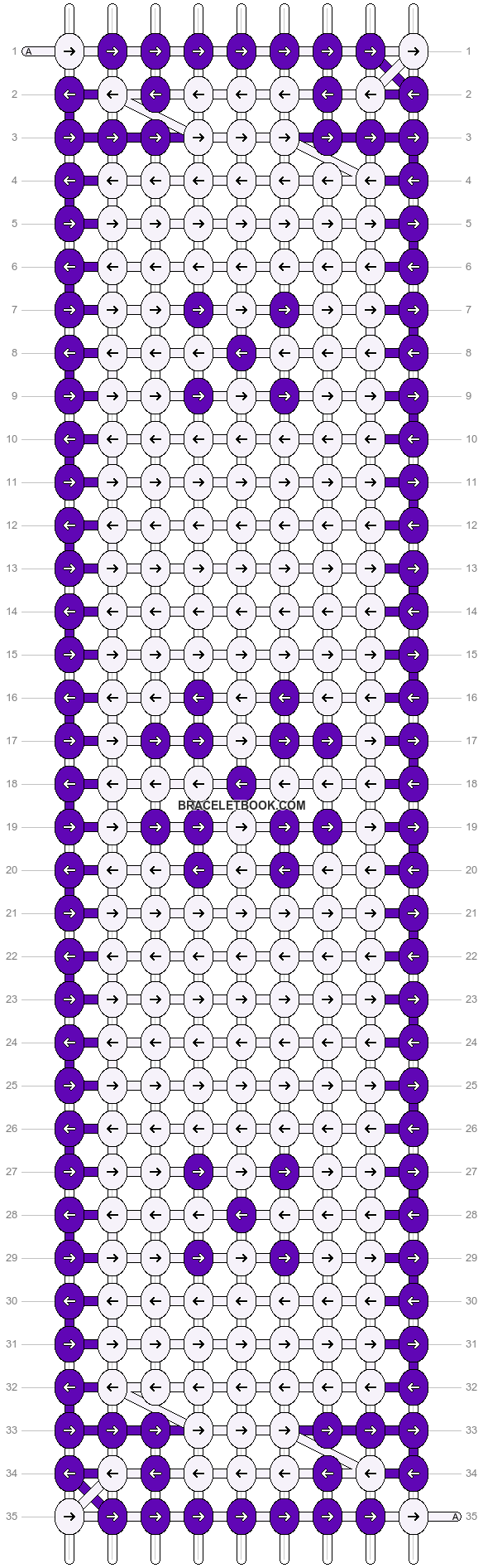 Alpha pattern #6718 pattern