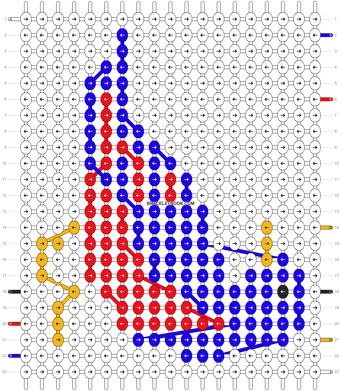 Alpha pattern #6768 pattern