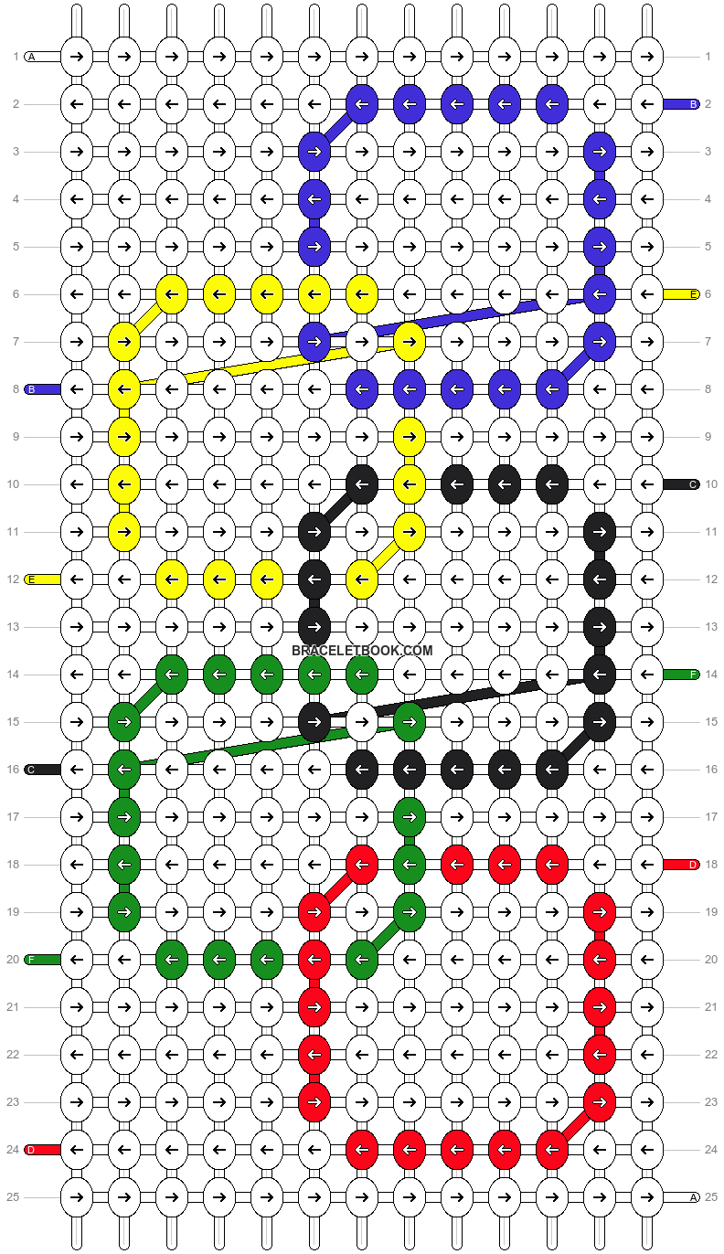 Alpha pattern #6806 pattern