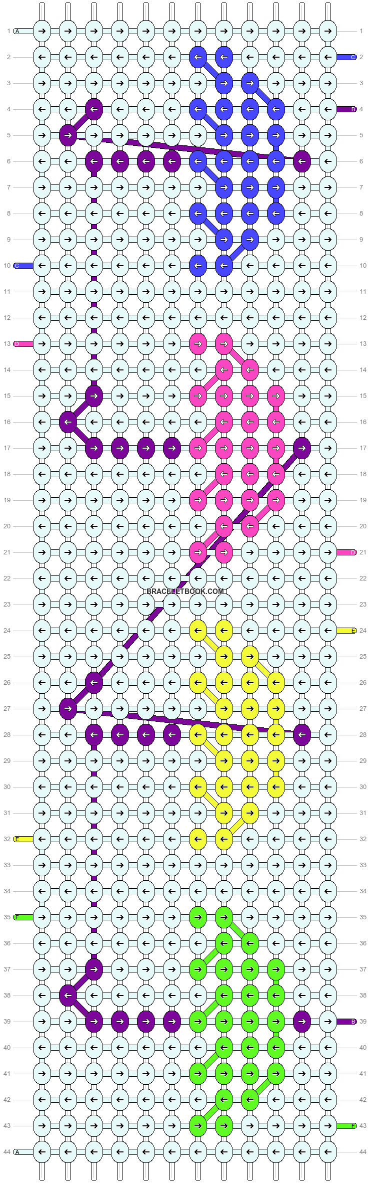 Alpha pattern #6822 pattern