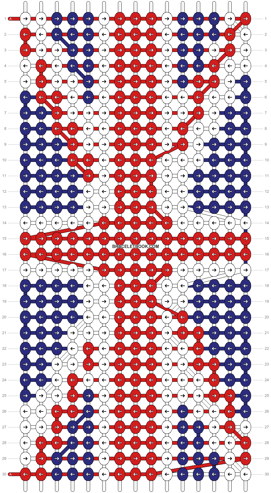 Alpha pattern #6858 pattern