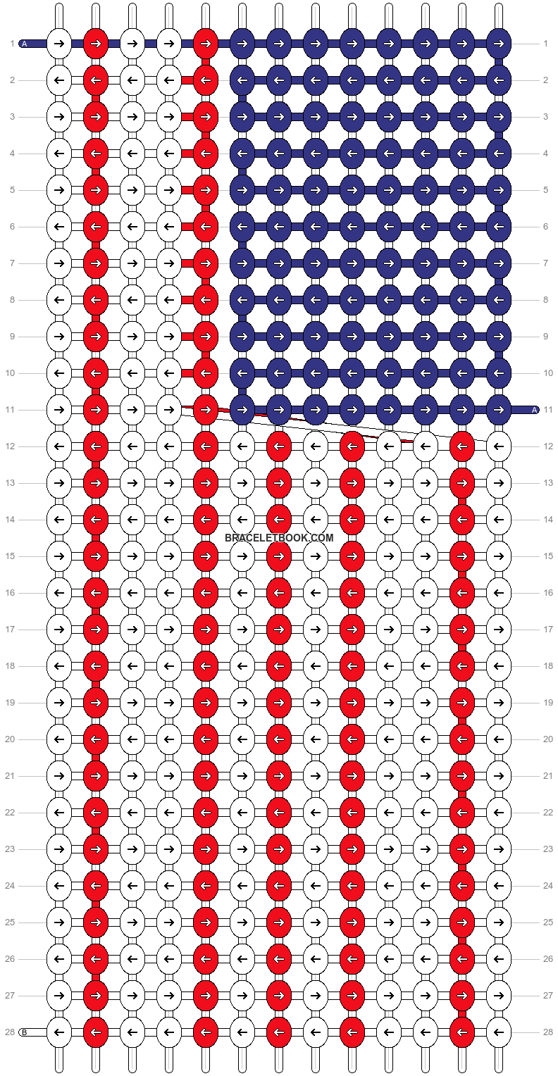 Alpha pattern #6859 pattern