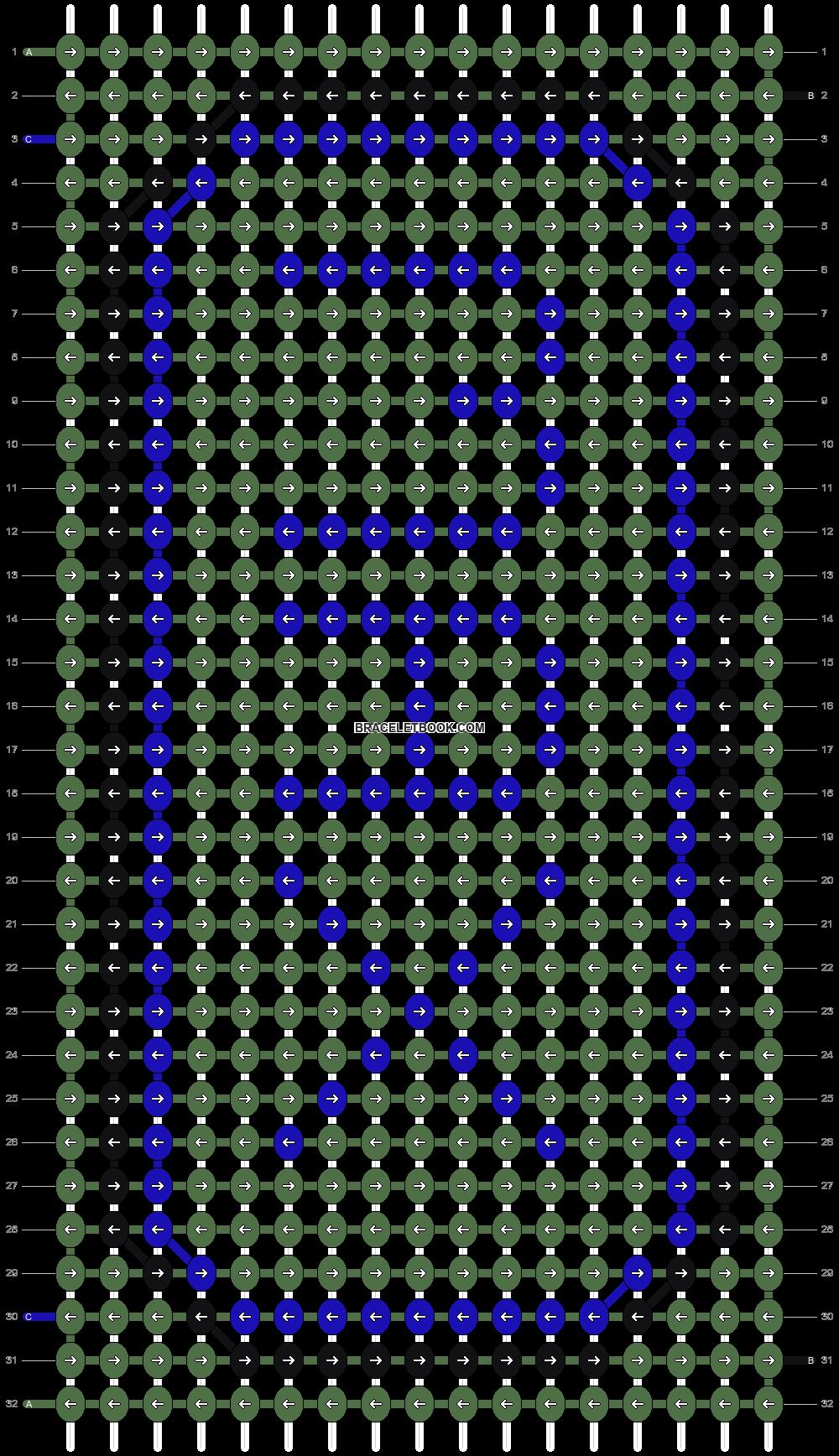 Alpha pattern #6893 pattern