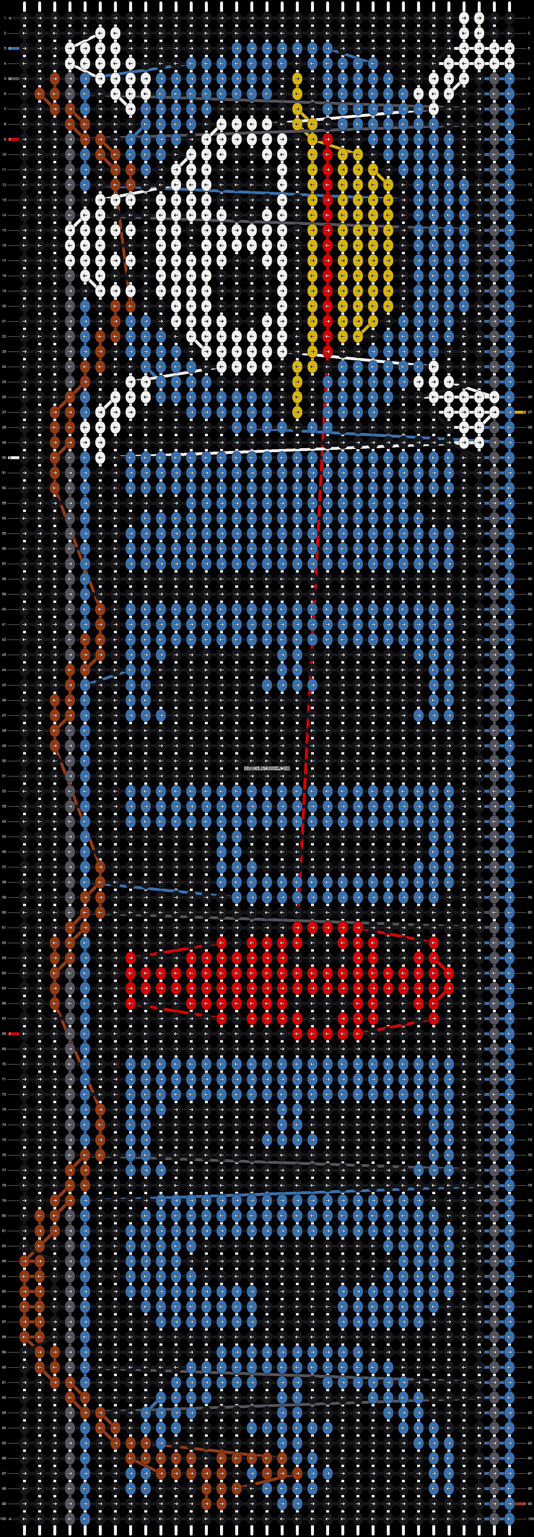 Alpha pattern #6908 pattern