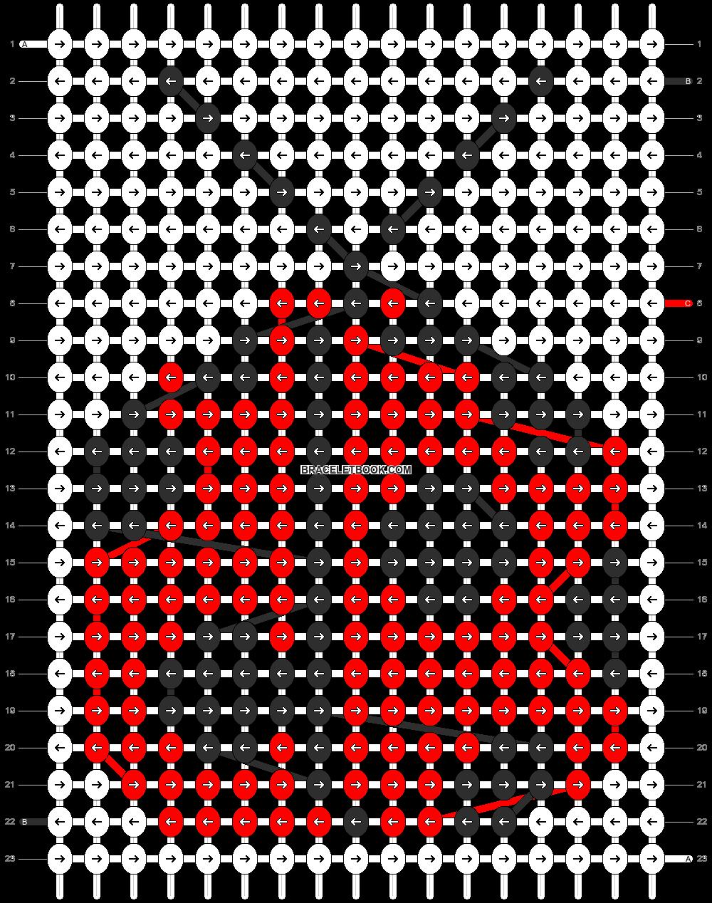 Alpha pattern #6980 pattern