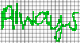 Alpha pattern #6998