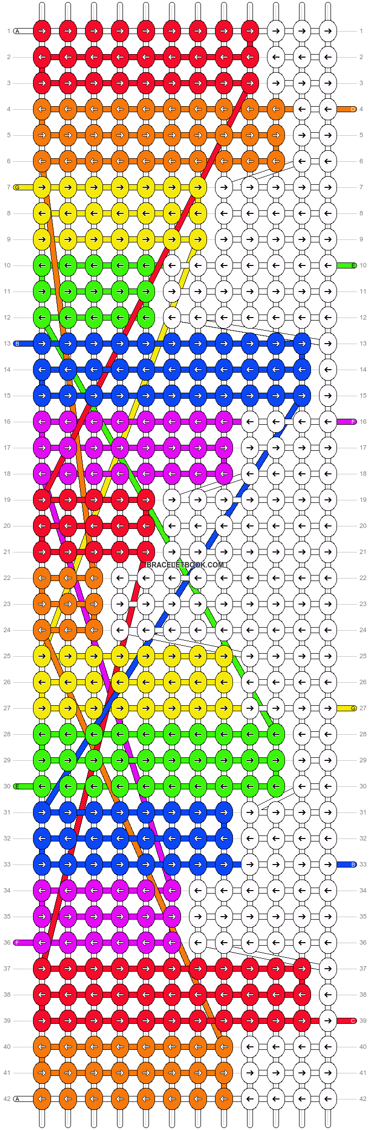 Alpha pattern #7003 pattern