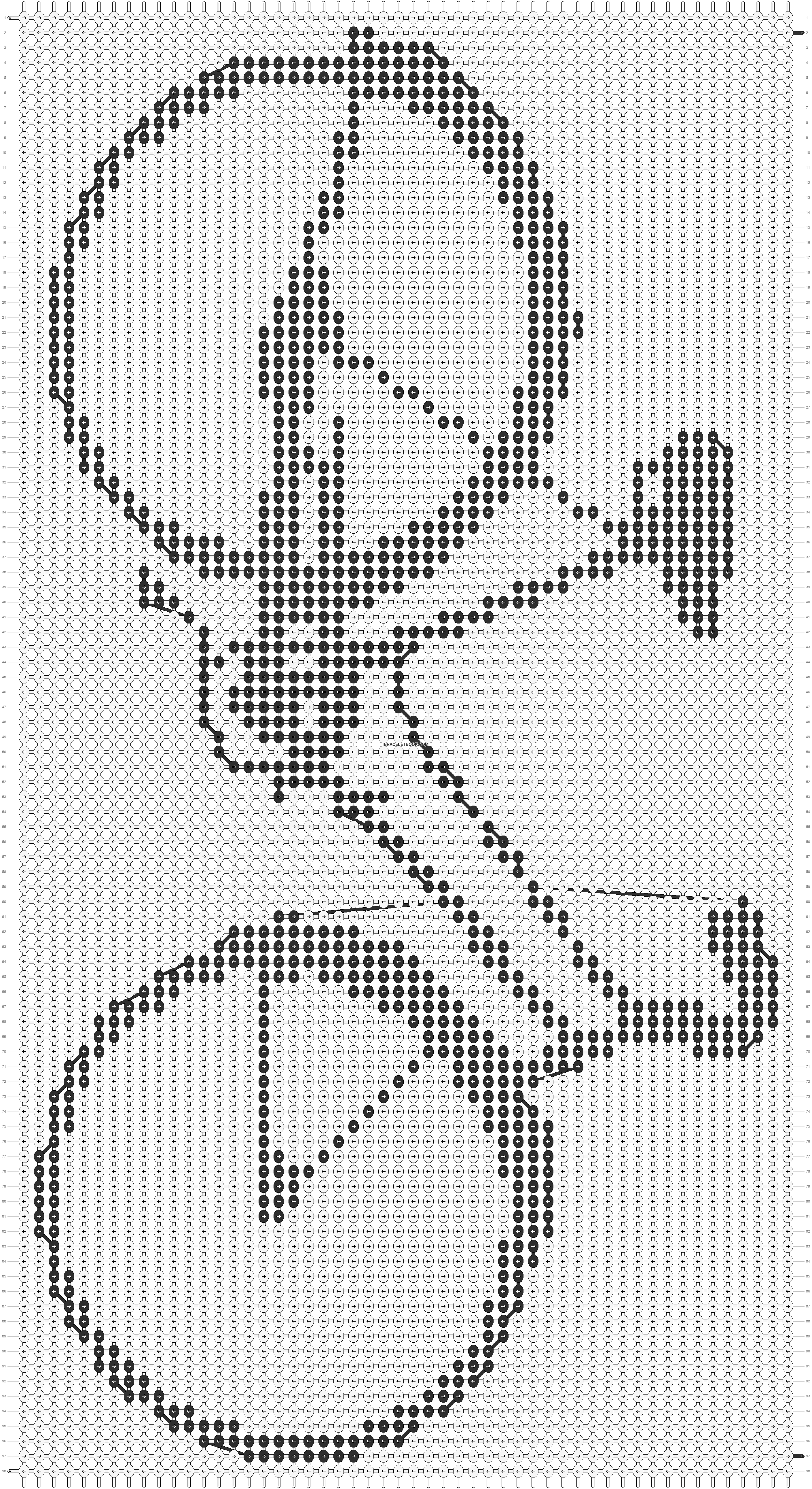 Alpha pattern #7010 pattern