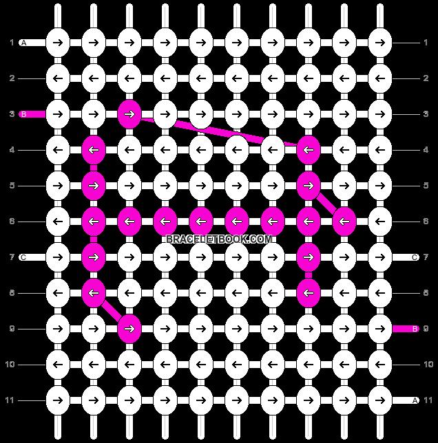 Alpha pattern #7018 pattern
