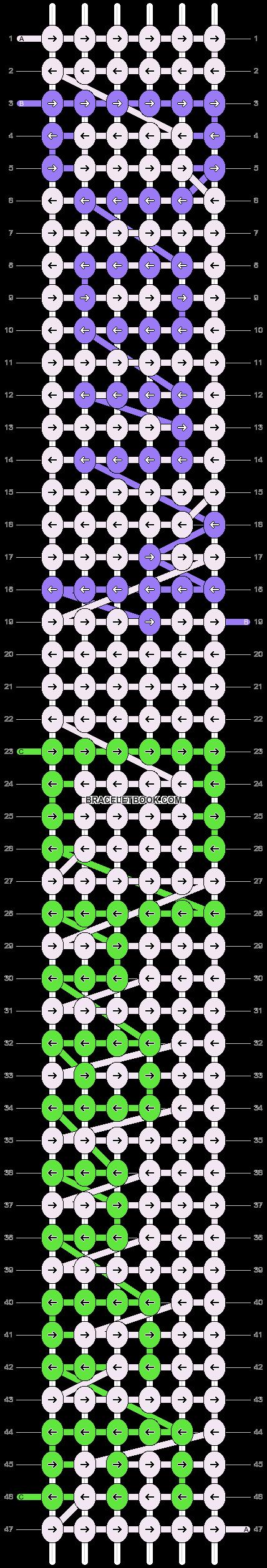 Alpha pattern #7104 pattern