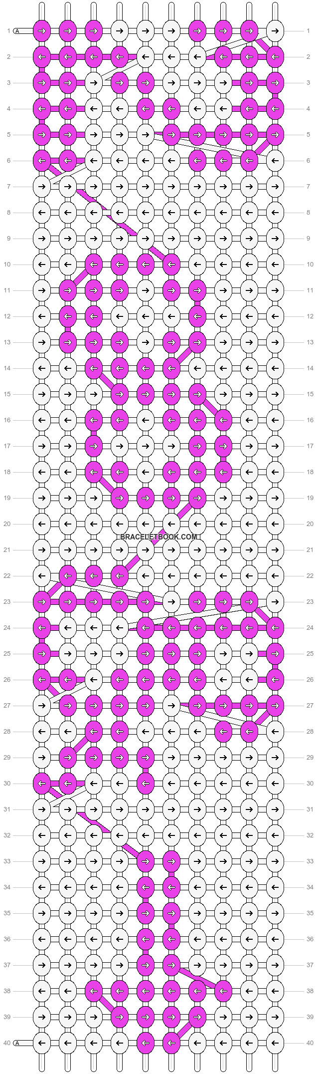 Alpha pattern #7200 pattern