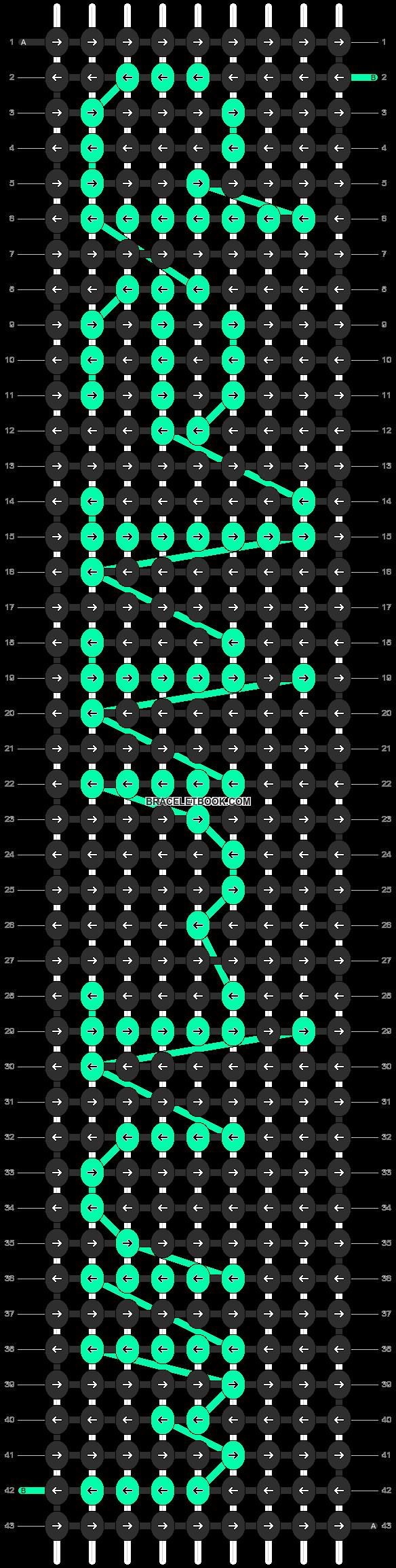 Alpha pattern #7206 pattern