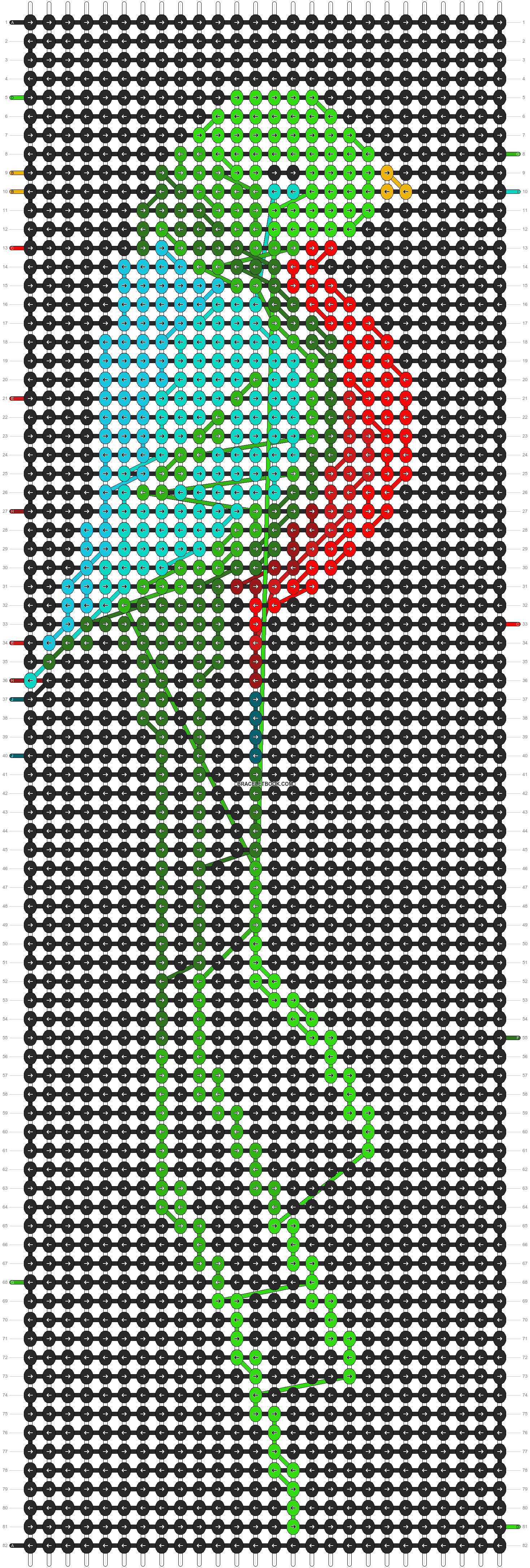 Alpha pattern #7284 pattern